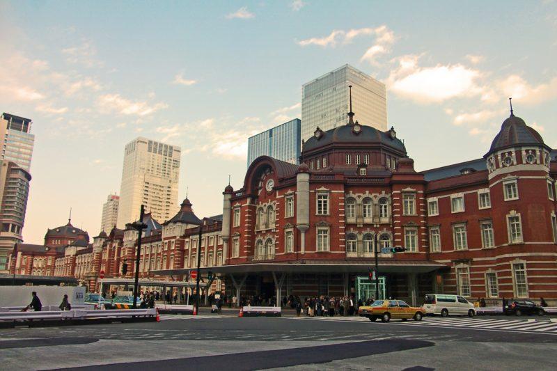 東京駅の様子